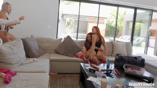 Six Sexy Girls Are having Fun at their new Place - WeLiveTogether
